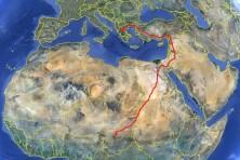 Lazaros' migration route