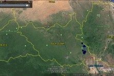 Iliaz wintering range (ca 8,500 km sq) in South Sudan.