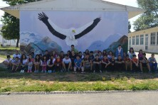 The mural of the Sapes primary school (WWF)