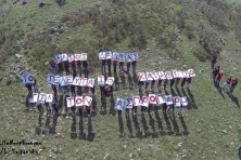 Students from Tichero raise their message