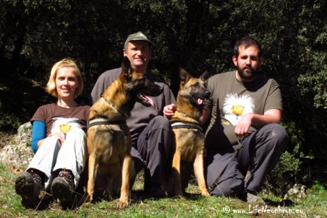 The Greek team with Jesus Lopez Valladolid, our dog and guide trainer.