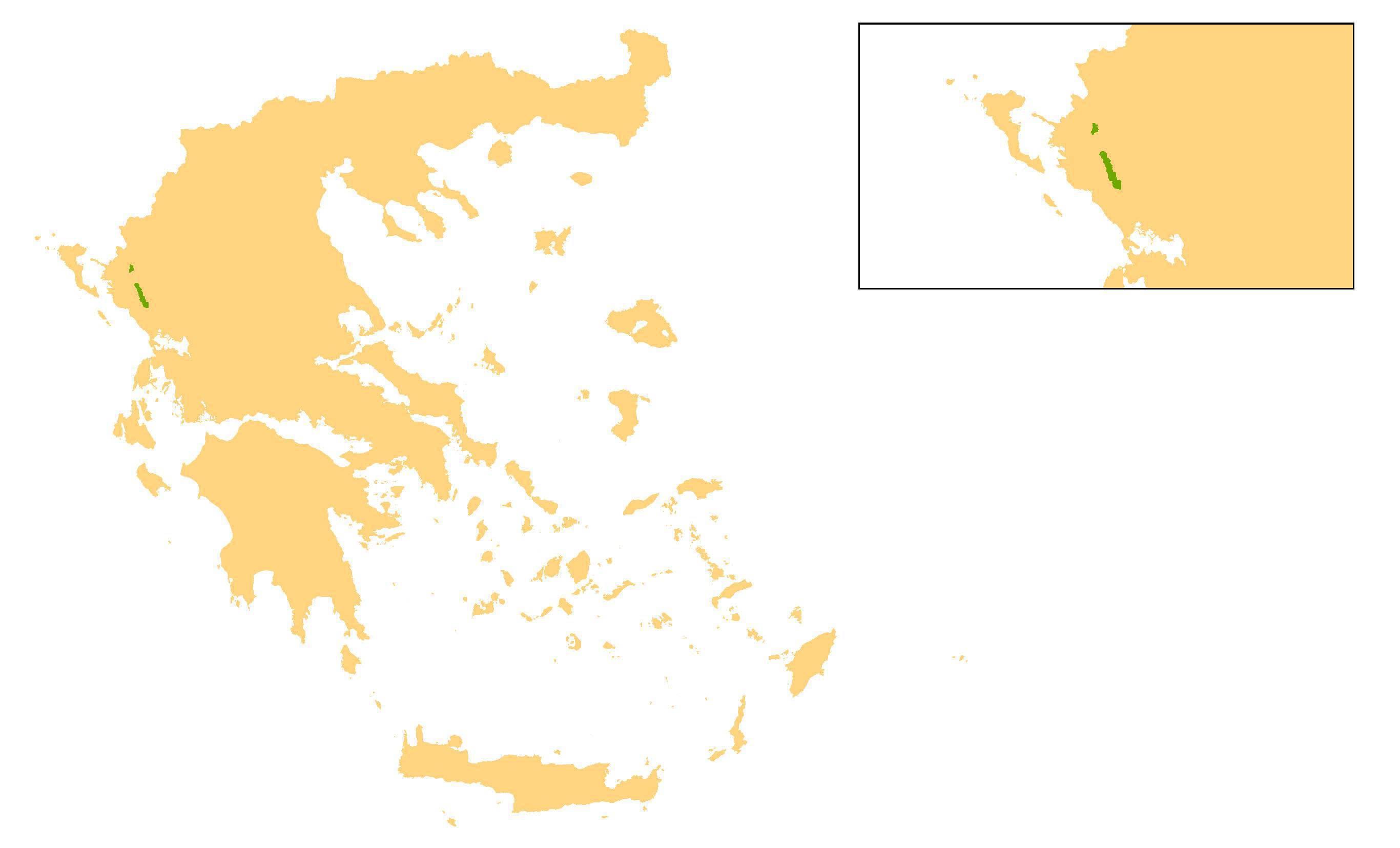 Map of SPA Paramythia Mountains, Kalamas & Acherontas