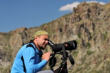 Monitoring of Egyptian vultures by BSPB in Eastern Rhodopes, Bulgaria, 2017, © Dimitar Nedelchev