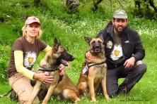Antipoison Dog Units in Greece: Ela with Kiko and Dimitris with Kuki
