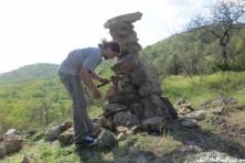 Installation of rocky platform for supplementary feeding in Bulgaria