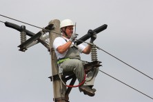 Isolation of dangerous electricity pole