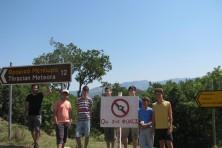 Signboard in Poliarno-Kompsatos (WWF)