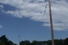 Dangerous pylon for electrocution