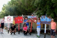 The adoption team from Iasmos Highschool with their four signs (WWF)
