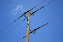Isolated electricity pole