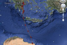 ELODIE SUCCESSFULLY CROSSED 480 KM OVER THE SEA FROM GREECE TO LIBYA!!!