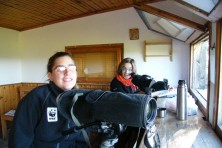 EVS volunteers record vultures from the Dadia observatory