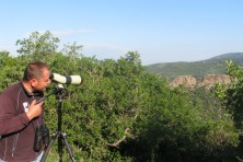 Our colleague Ali who implements the individual feeding and the guarding of the Egyptian vulture nest (WWF Greece)