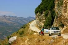 Наблюдение на гнездова територия на египетски лешояд в Албания (БДЗП/С.Николов)