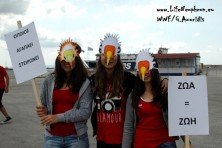 «NO TO POISON BAITS – RESPECT ANIMALS AND NATURE» THE EGYPTIAN VULTURE STUDENTS OF EVROS AND RODOPI PROTESTED IN ALEXANDROUPOLI AND KOMOTINI