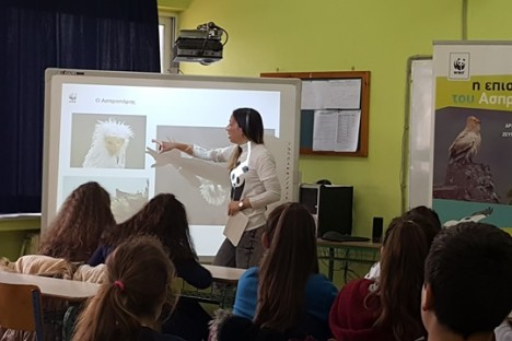 Presentation in Iasmos highschool (WWF Greece)