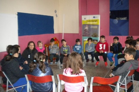 Discussion with the Dadia students