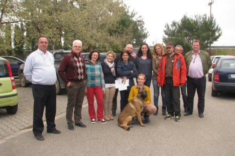 Kiko in Komotini with employers from Forest Service and Regional Directorate of Environment