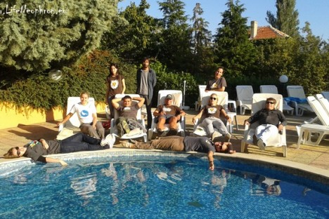 The project team at the end of the work day :)